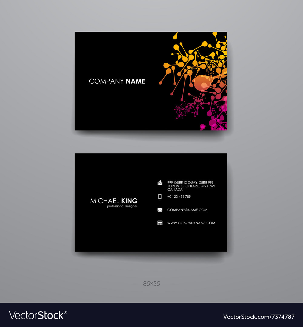 Set of design business card template in dna vector image reheart Gallery