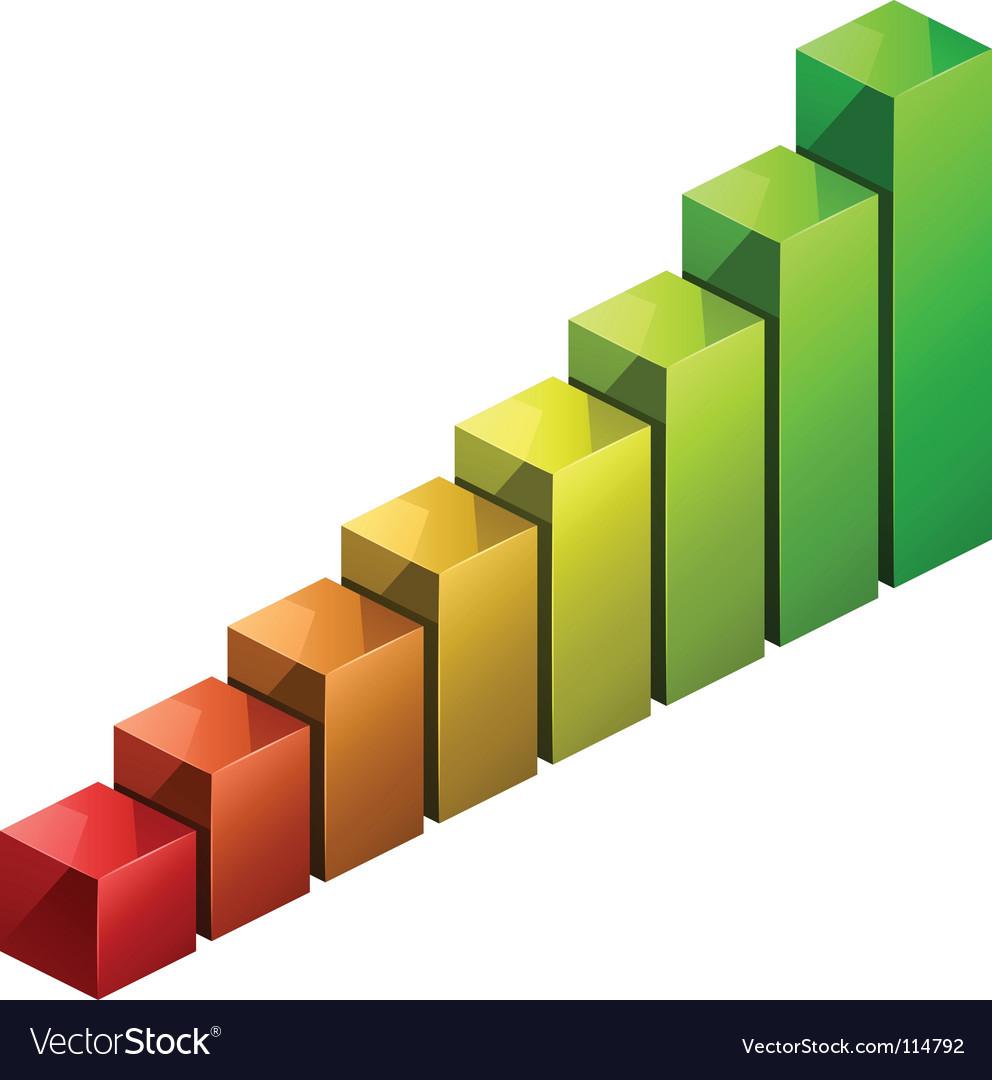 3d bar graph royalty free vector image - vectorstock