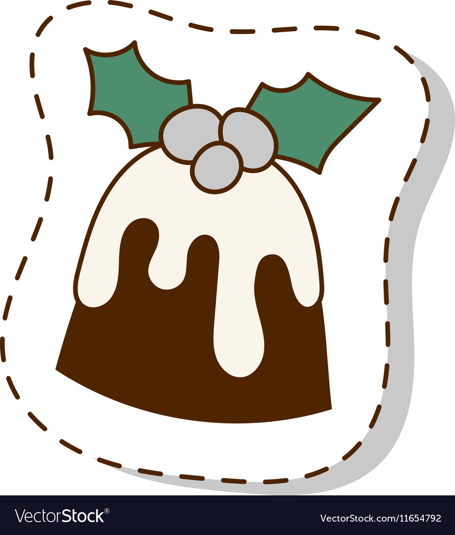 Christmas cookie cake isolated icon