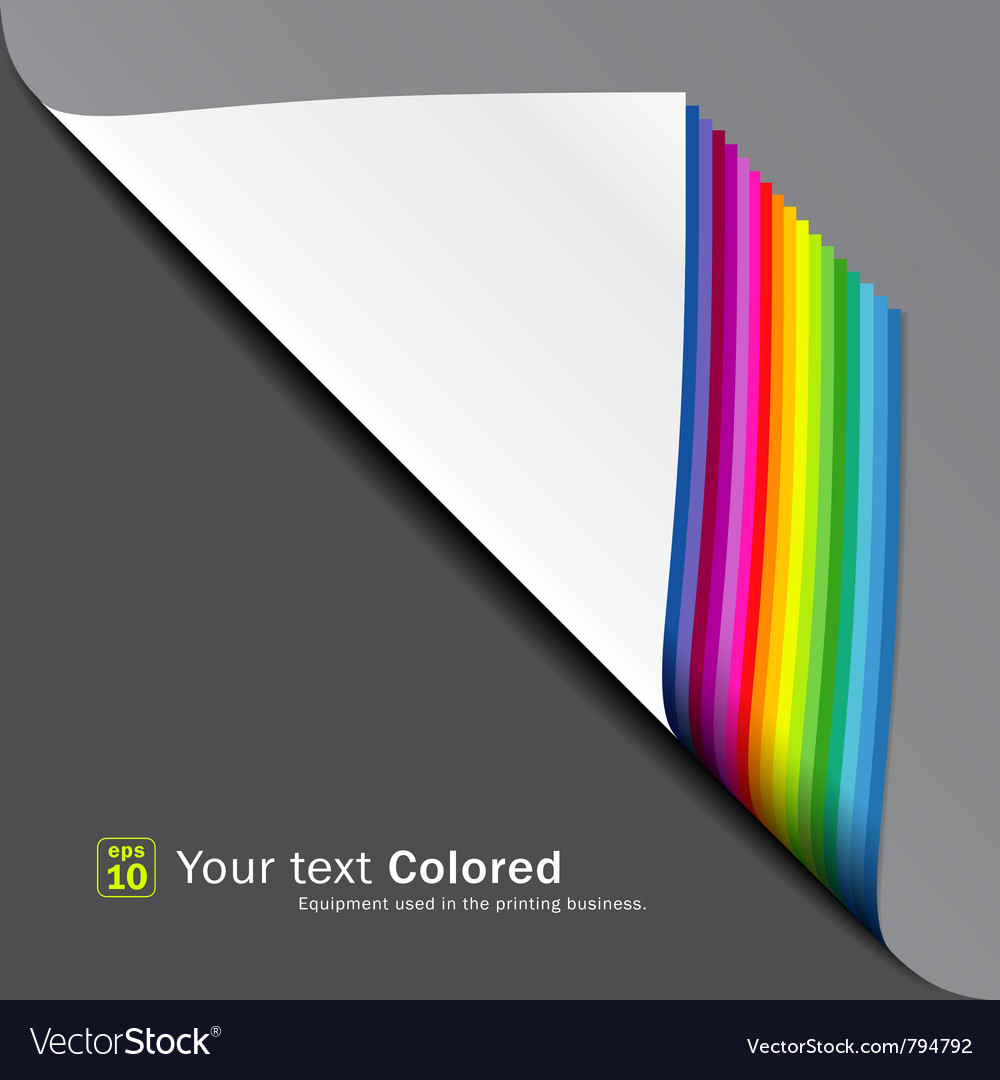 Colorful paper note overlap background