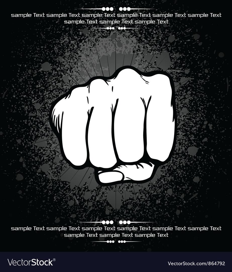 Fist background