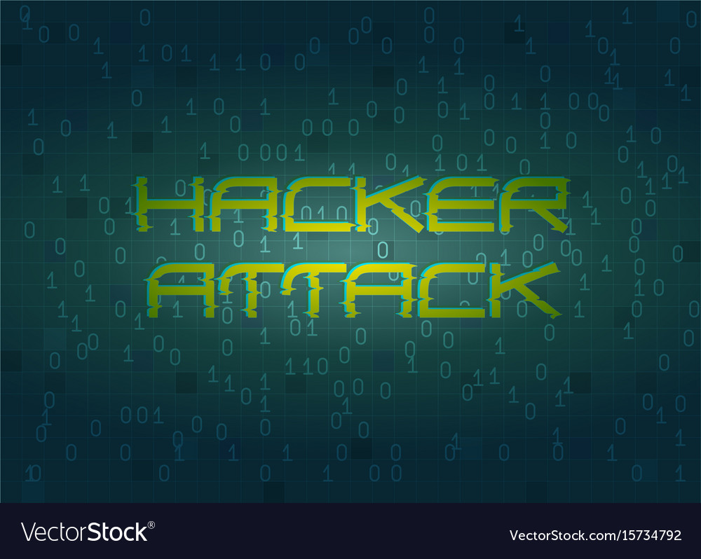 Hacker attack technology background concept vector image