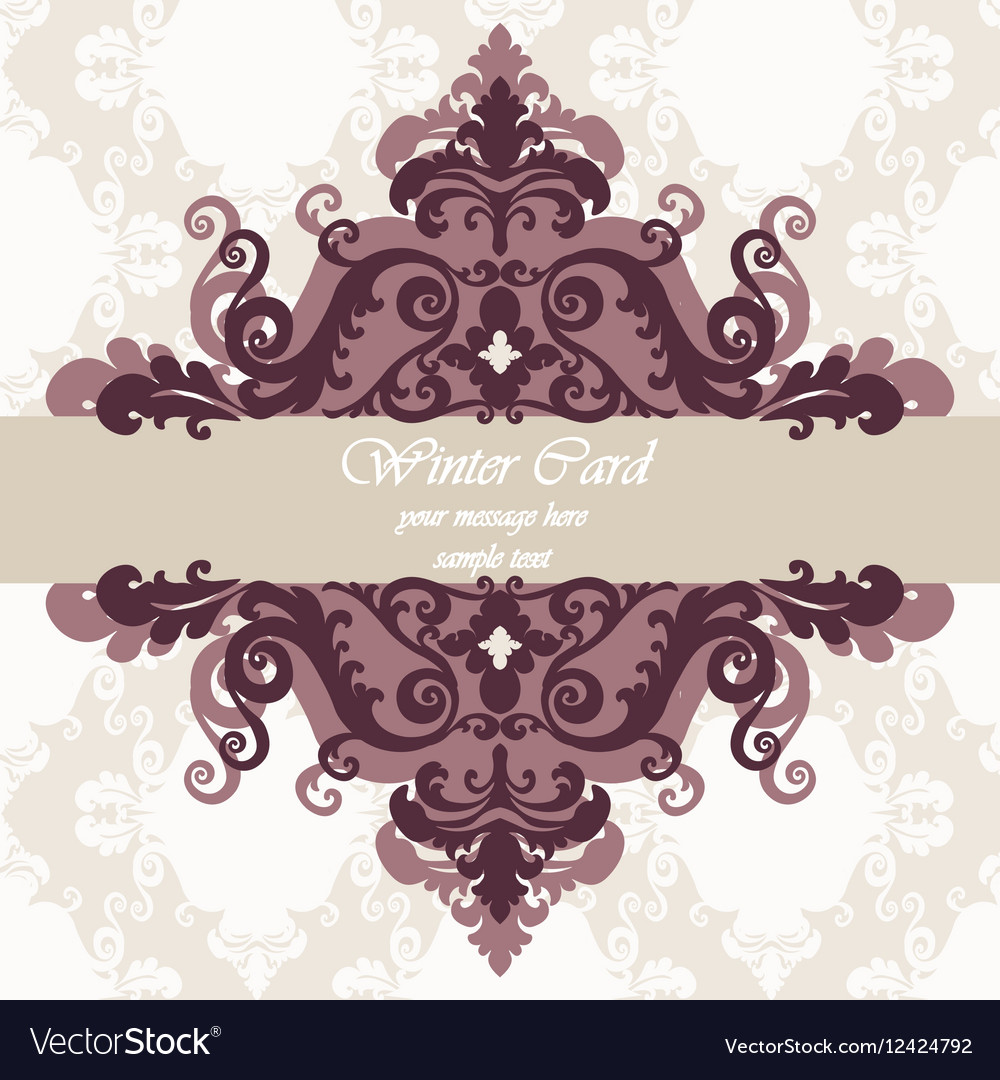 Invitation card with ornaments