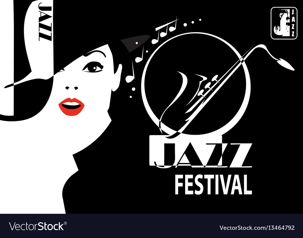 Jazz festival retro a poster with the stylish