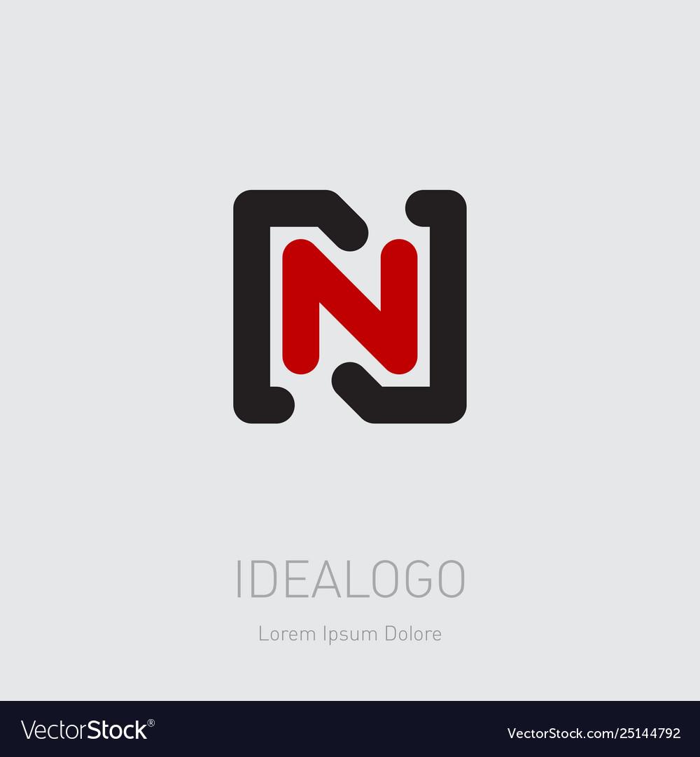 N and n initial logo nn - design element or icon