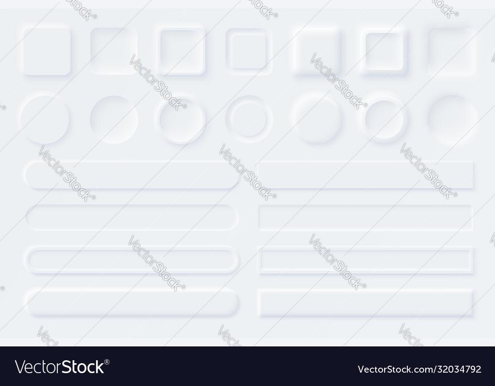 Neumorphic ui ux white user interface elements