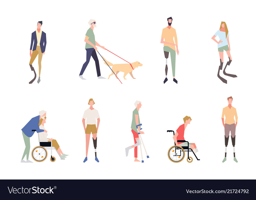 People with disabilities in the style of