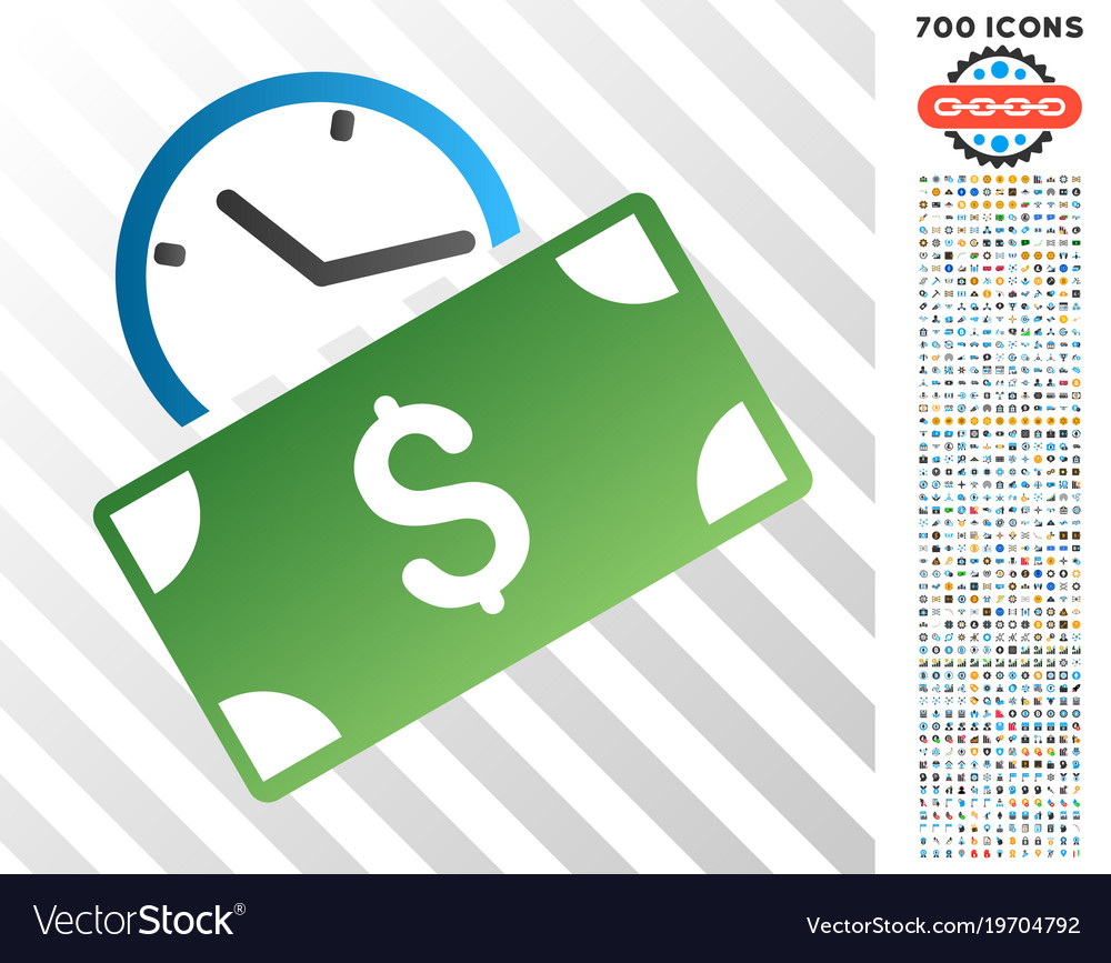 Recurring payment flat icon with bonus