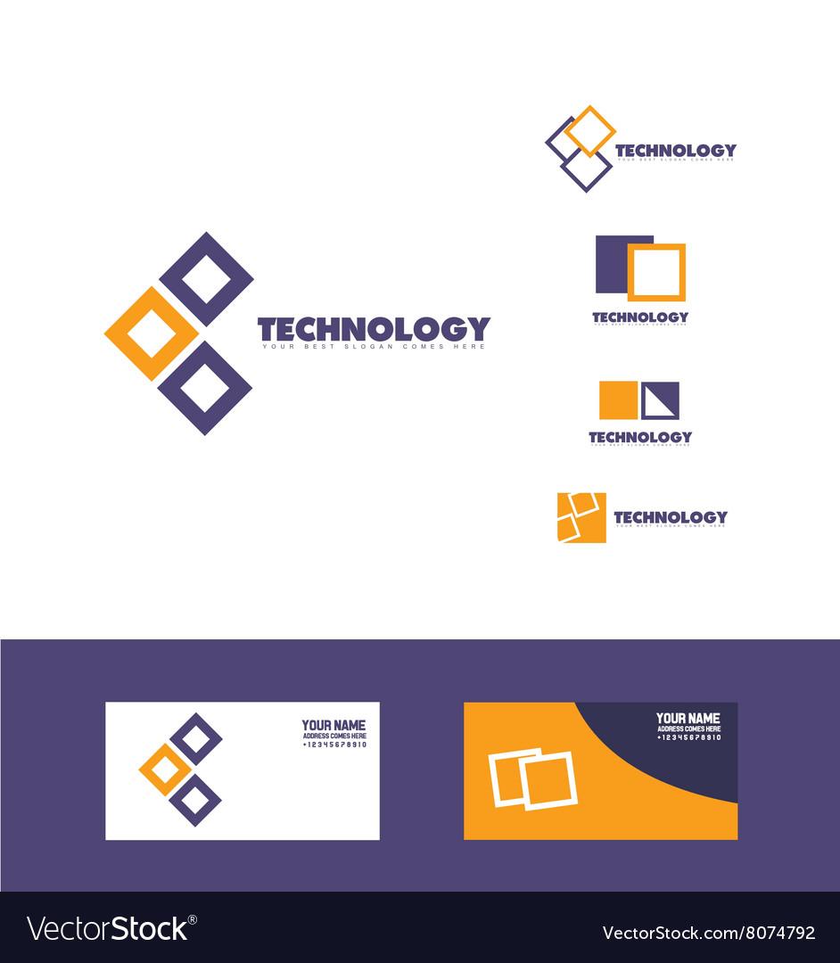 Technology square logo icon
