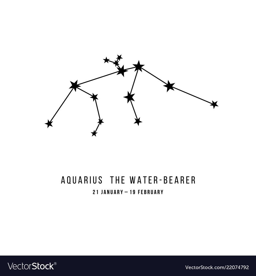 The aquarius constellation