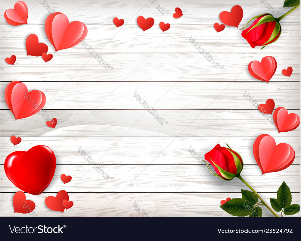 Valentines day holiday background with red roses