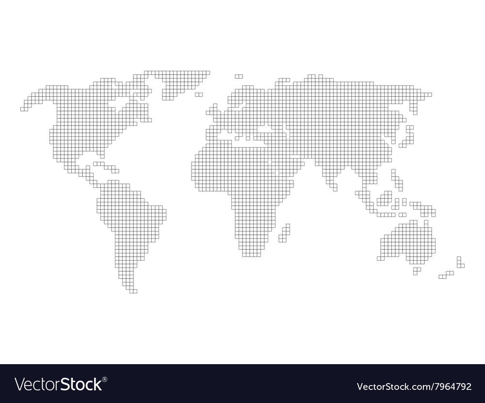World map grid royalty free vector image vectorstock world map grid vector image gumiabroncs Image collections