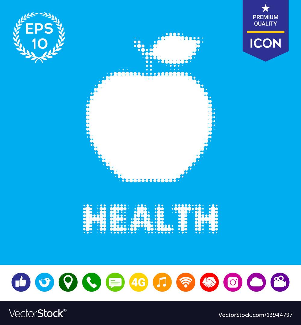 Apple - halftone logo