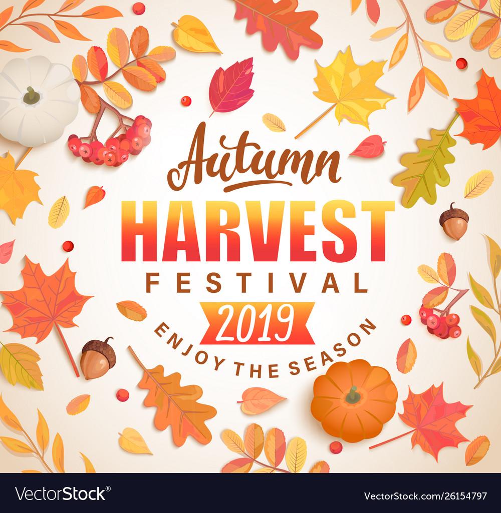 Autumn harvest festival banner