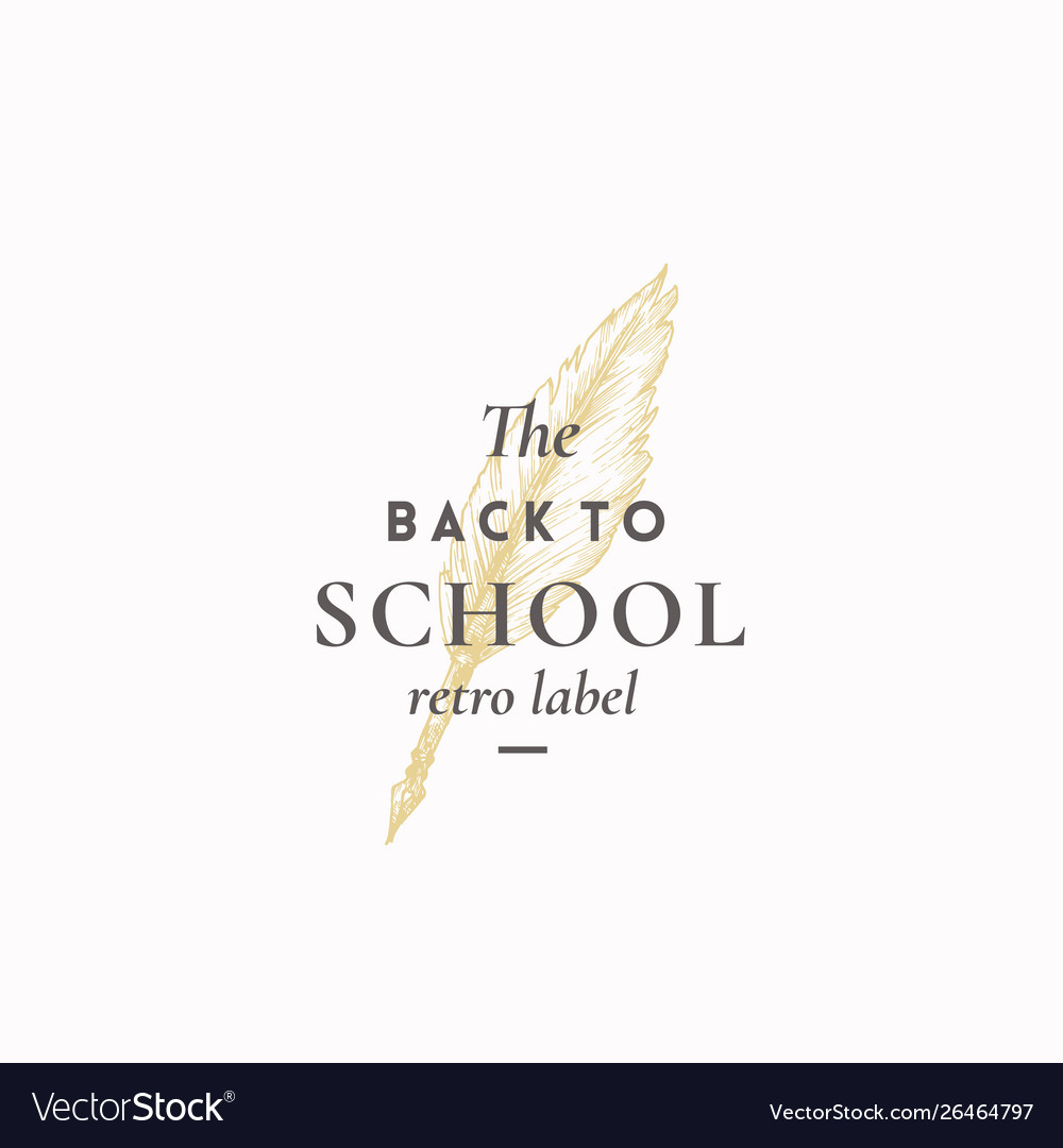 Back to school abstract sign symbol or