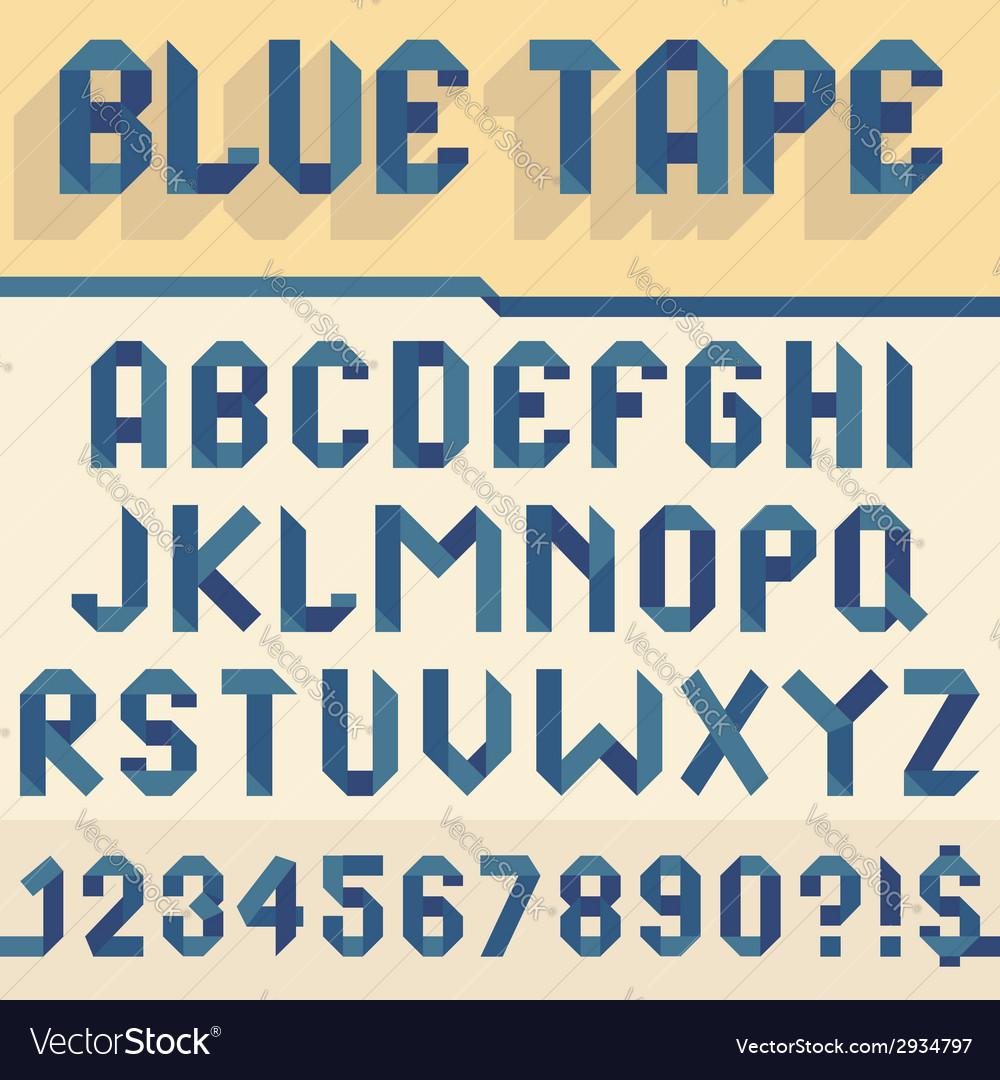 Blue tape alphabet