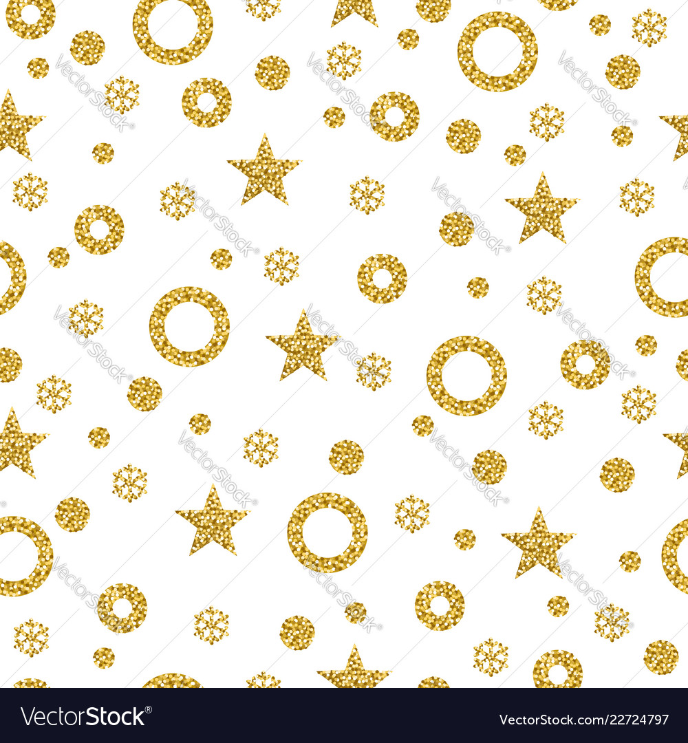 Christmas pattern background with golden