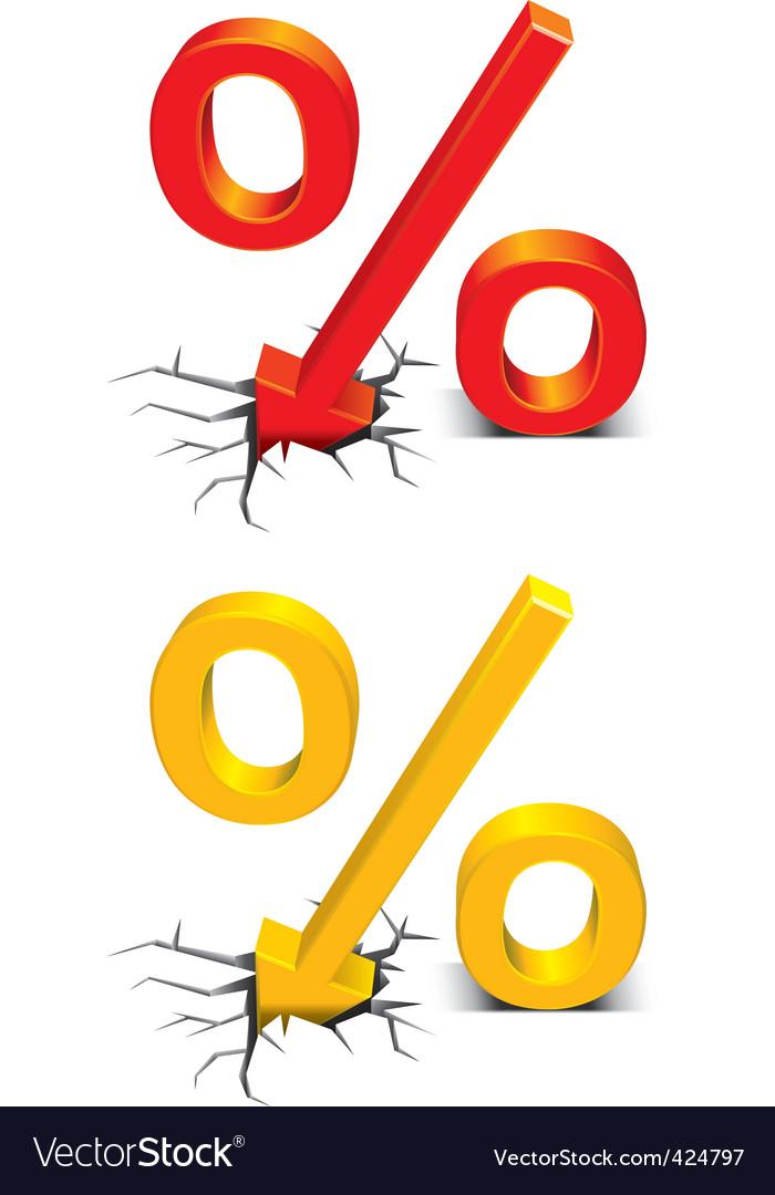 Discount percent vector image