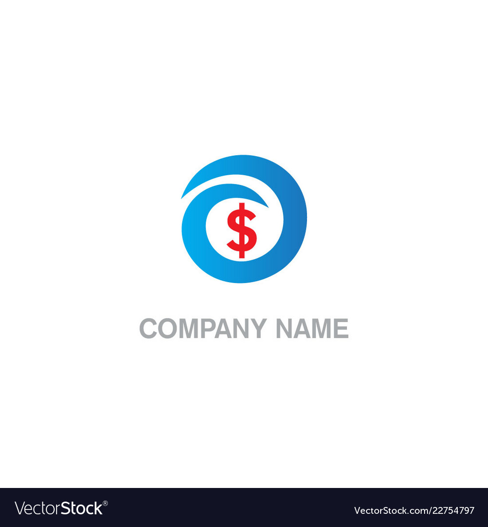 dollar sign money business company logo royalty free vector vectorstock