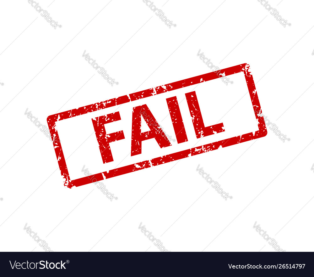 Fail stamp texture rubber cliche imprint web or