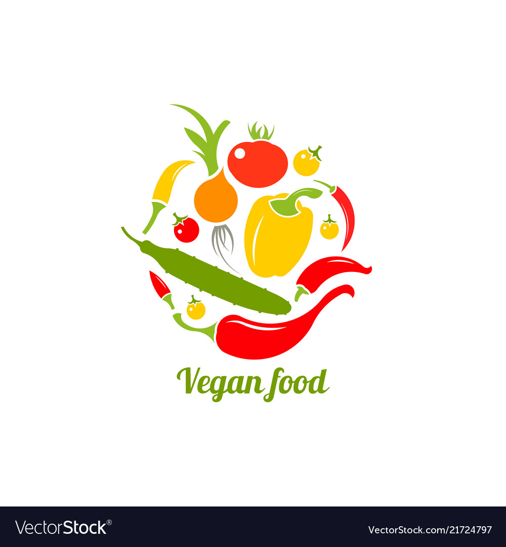 Icon of vegetables logo design template