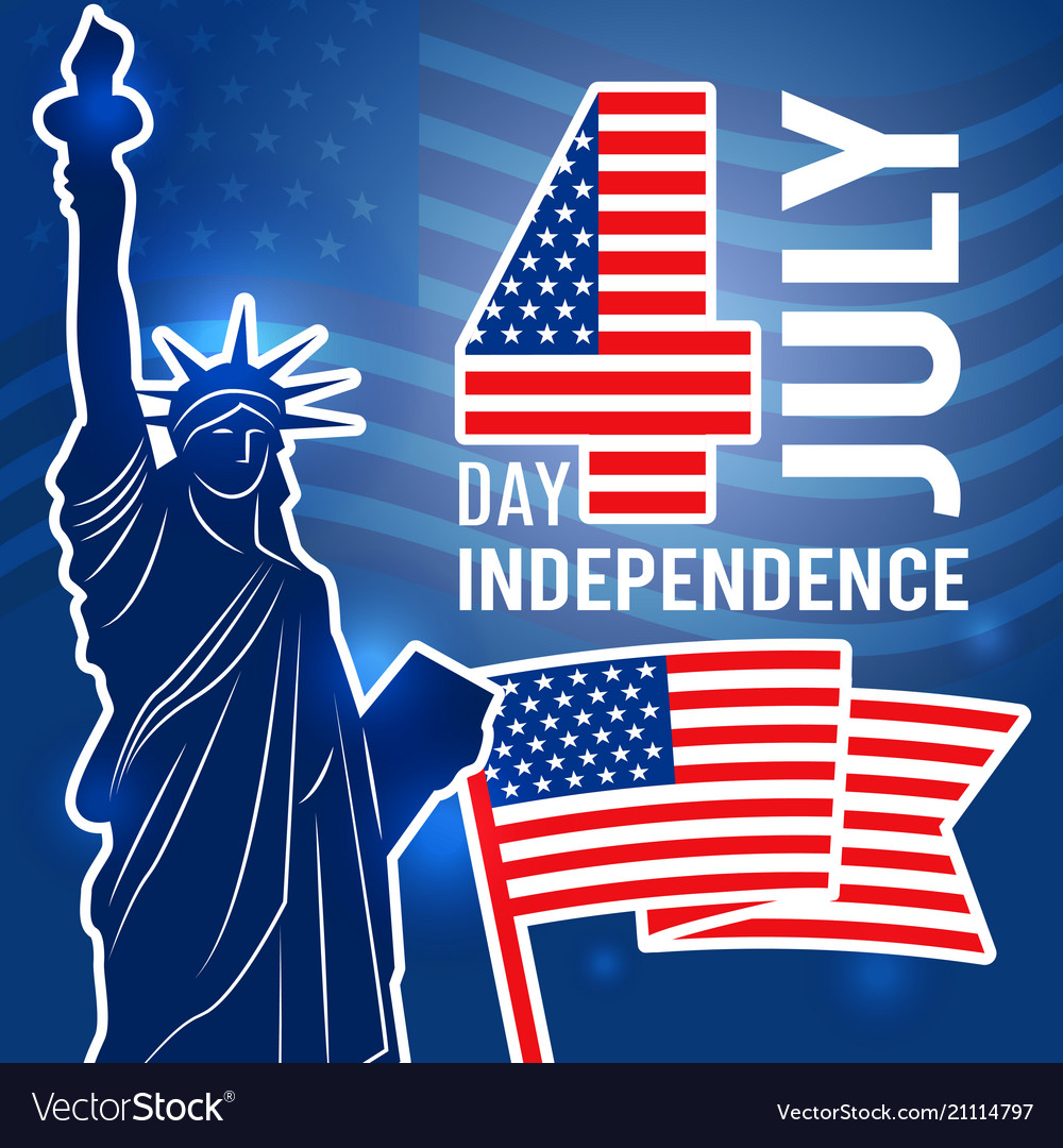Independence day 4 july poster design template
