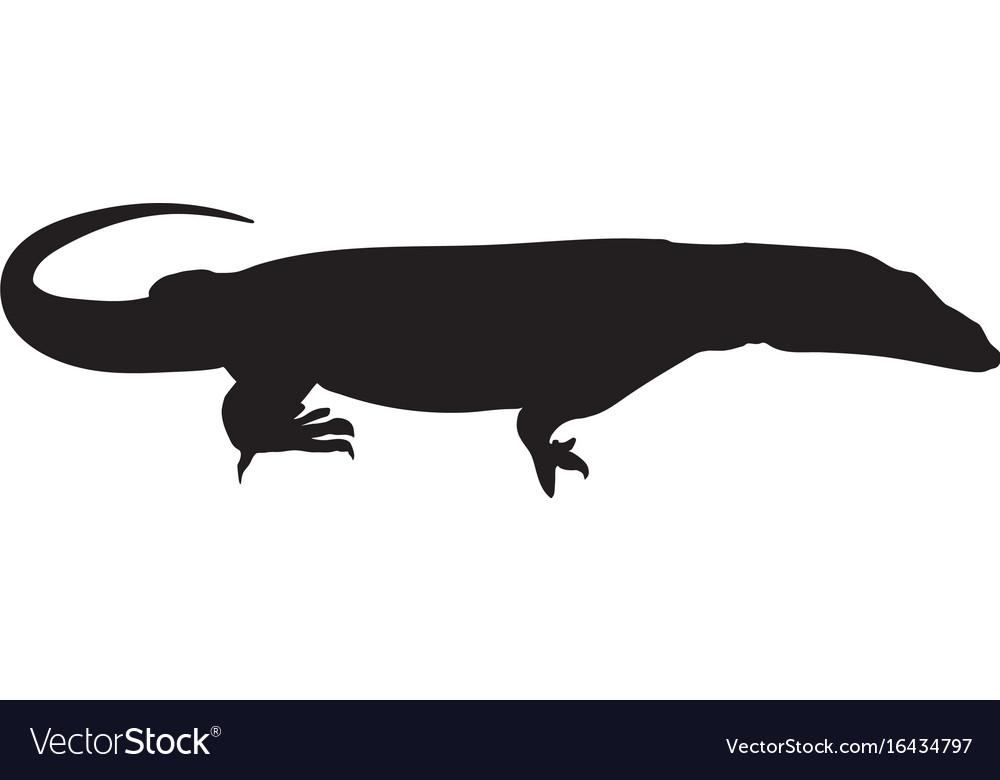 Lizard icon varan silhouette