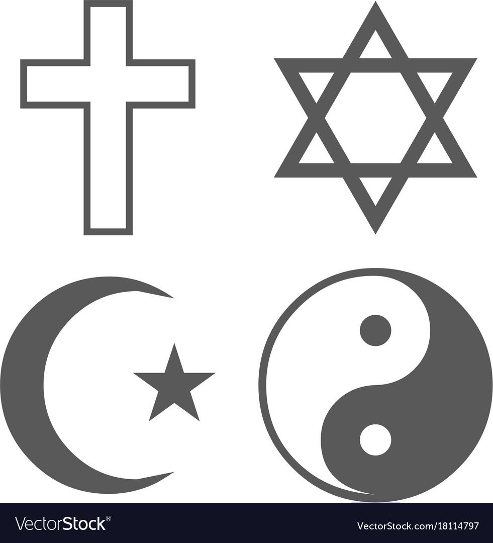 Religion icon set simple