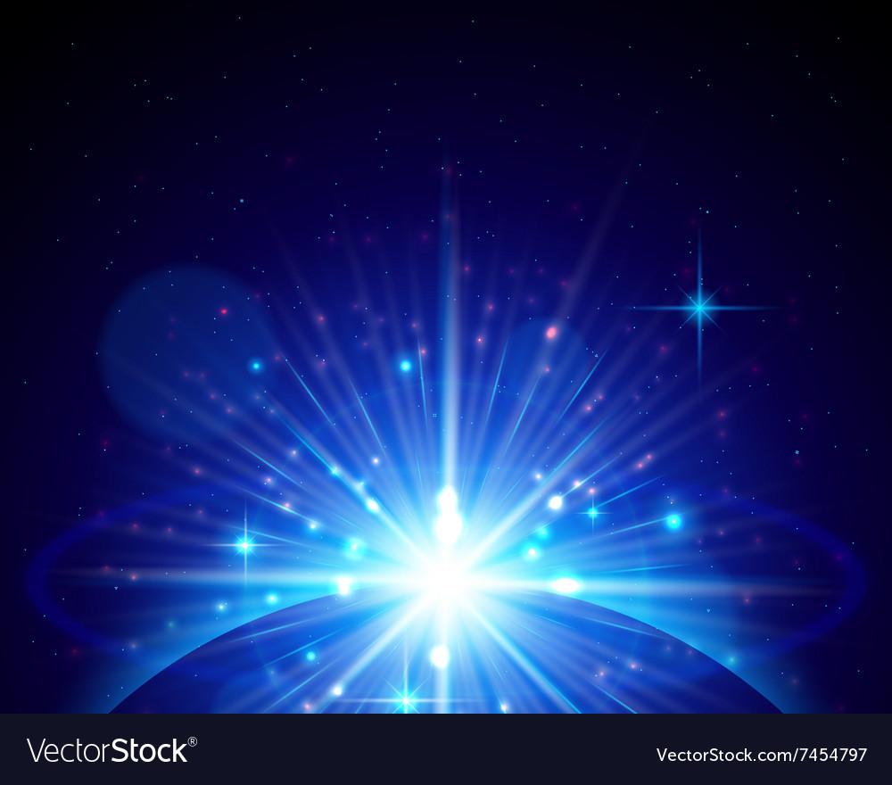 Rising star vector image