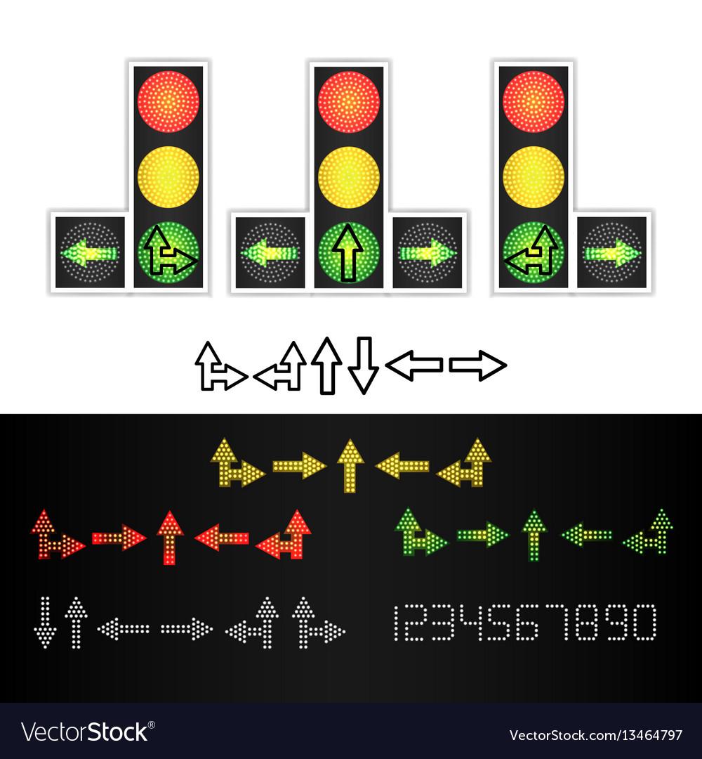Road traffic light realistic led panel