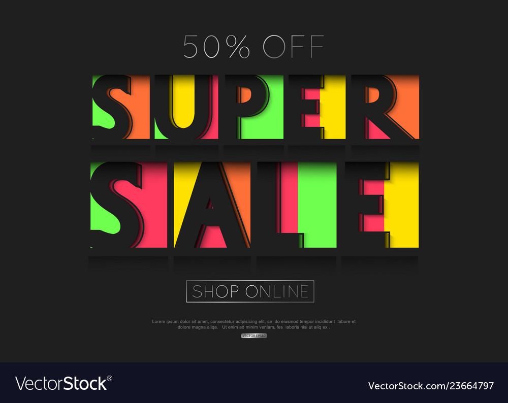 Sale banner template design paper cut