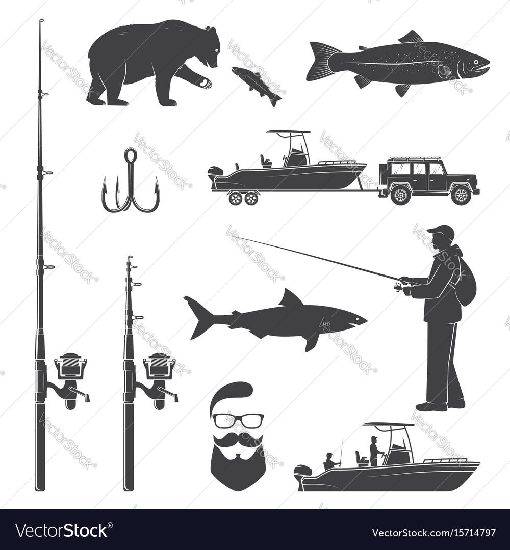 Set of fishing icon