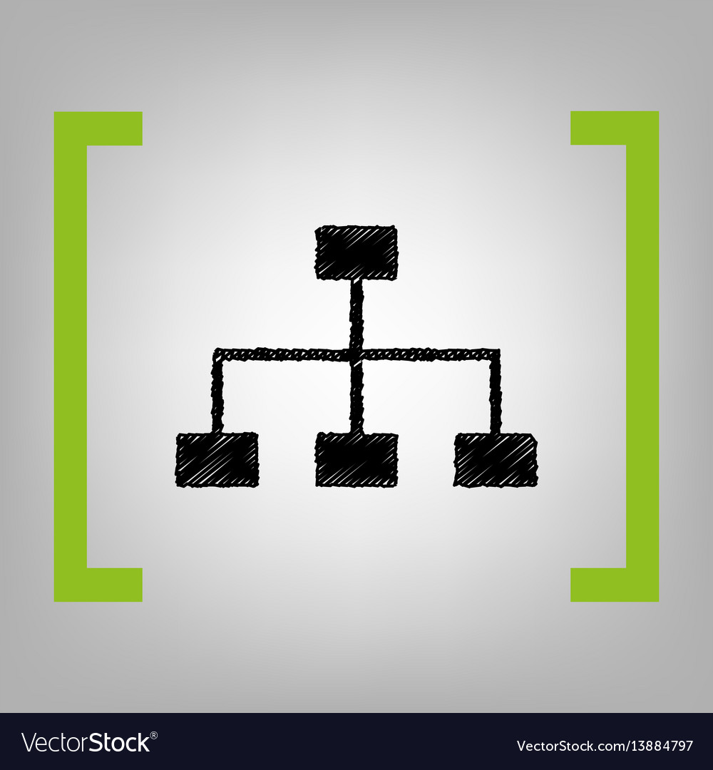 Site map sign black scribble icon in