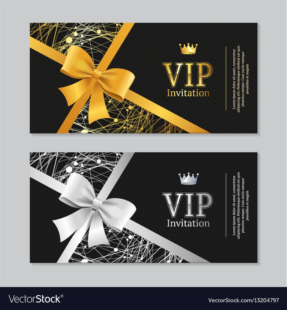 Vip invitation and card set