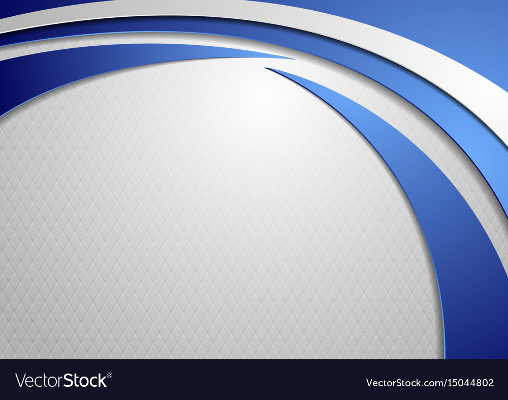 Abstract tech wavy corporate background vector image