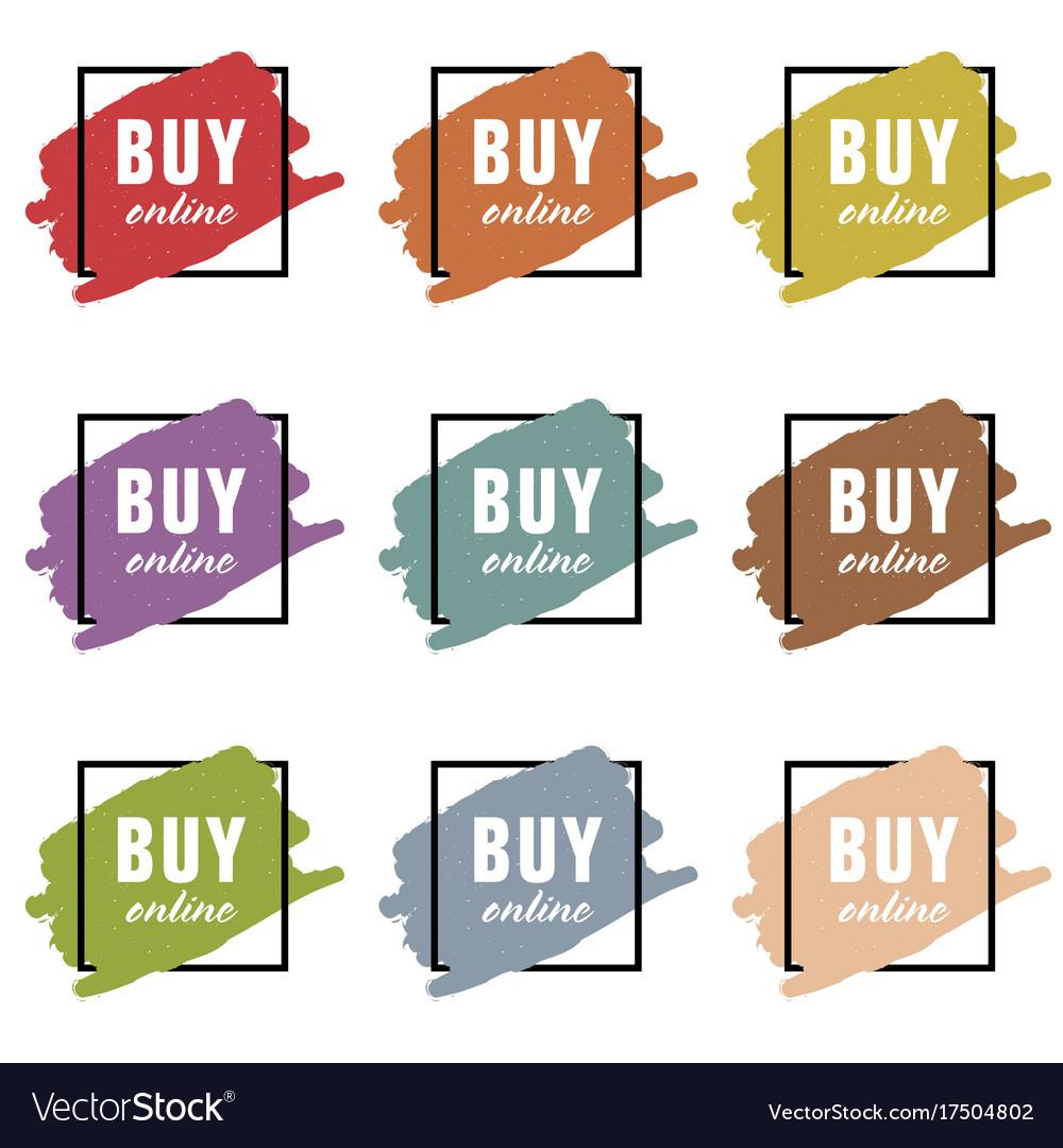 Buy online icon set