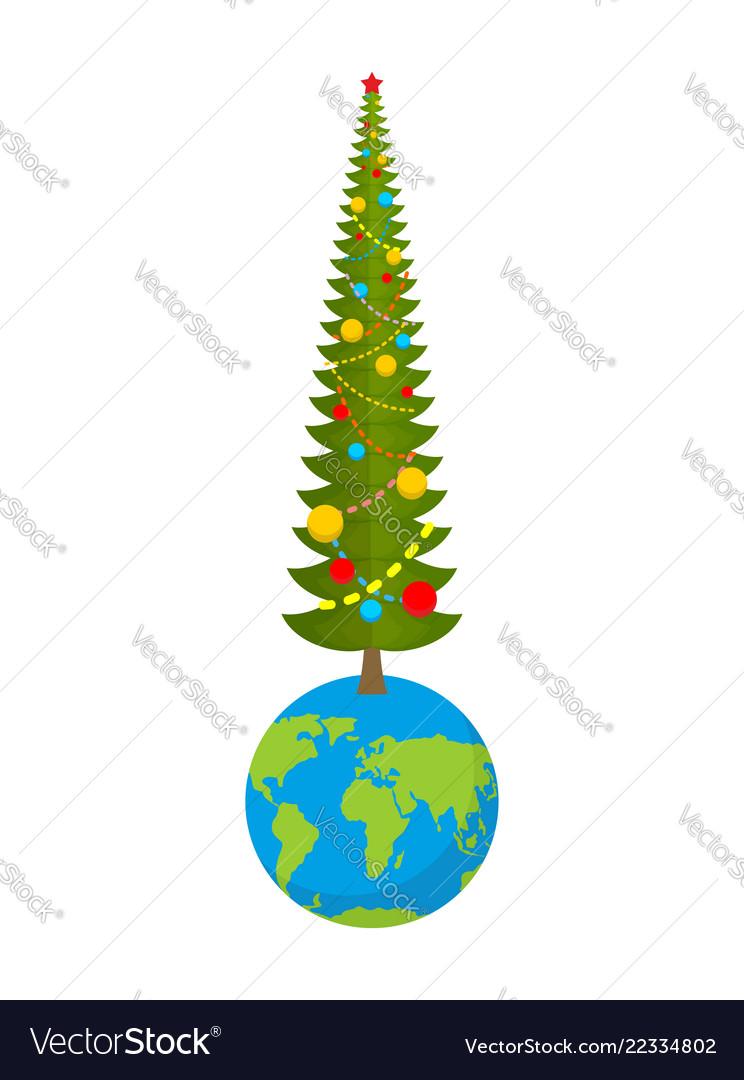 Christmas on earth new year on planet big