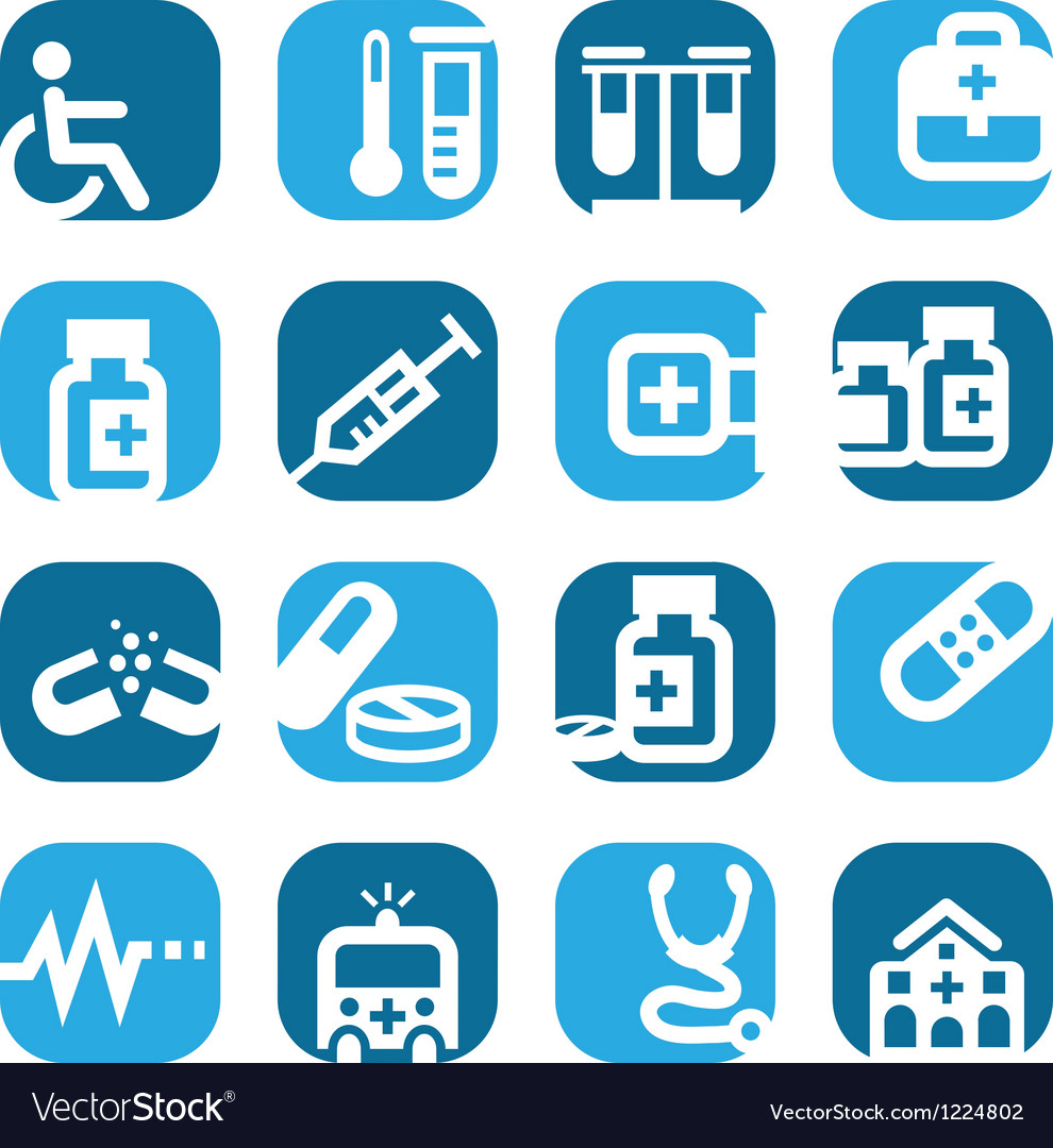Color medical icons