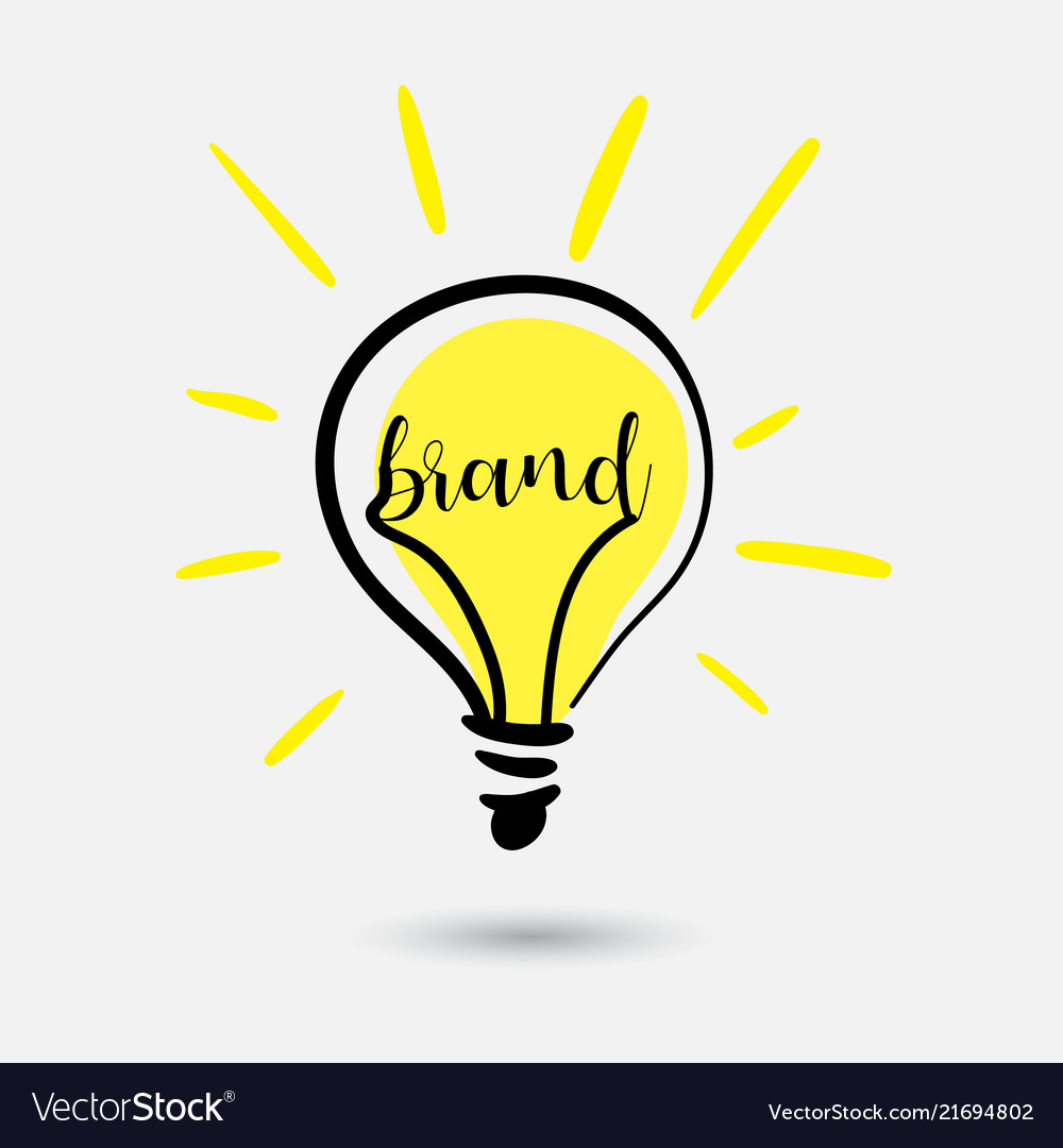 Creative light bulb concept sketch idea for brand
