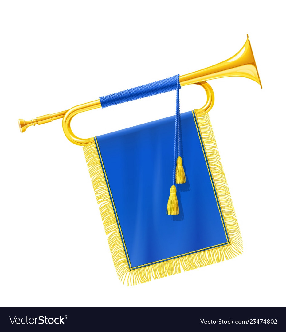 Golden royal horn trumpet