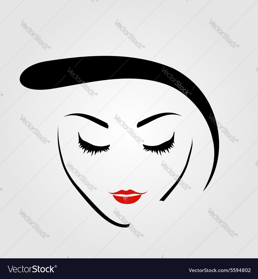 Graphic of a woman with vintage hairstyle