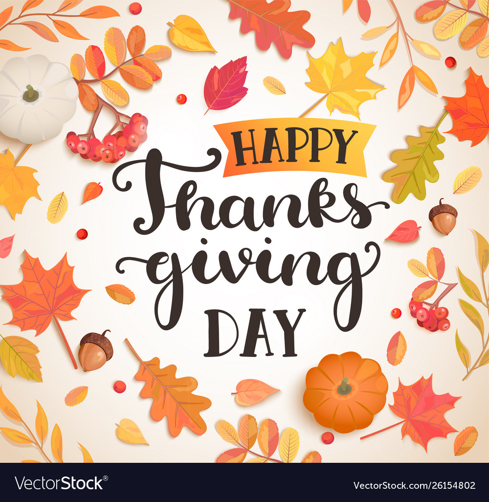 Happy thanksgiving day poster banner