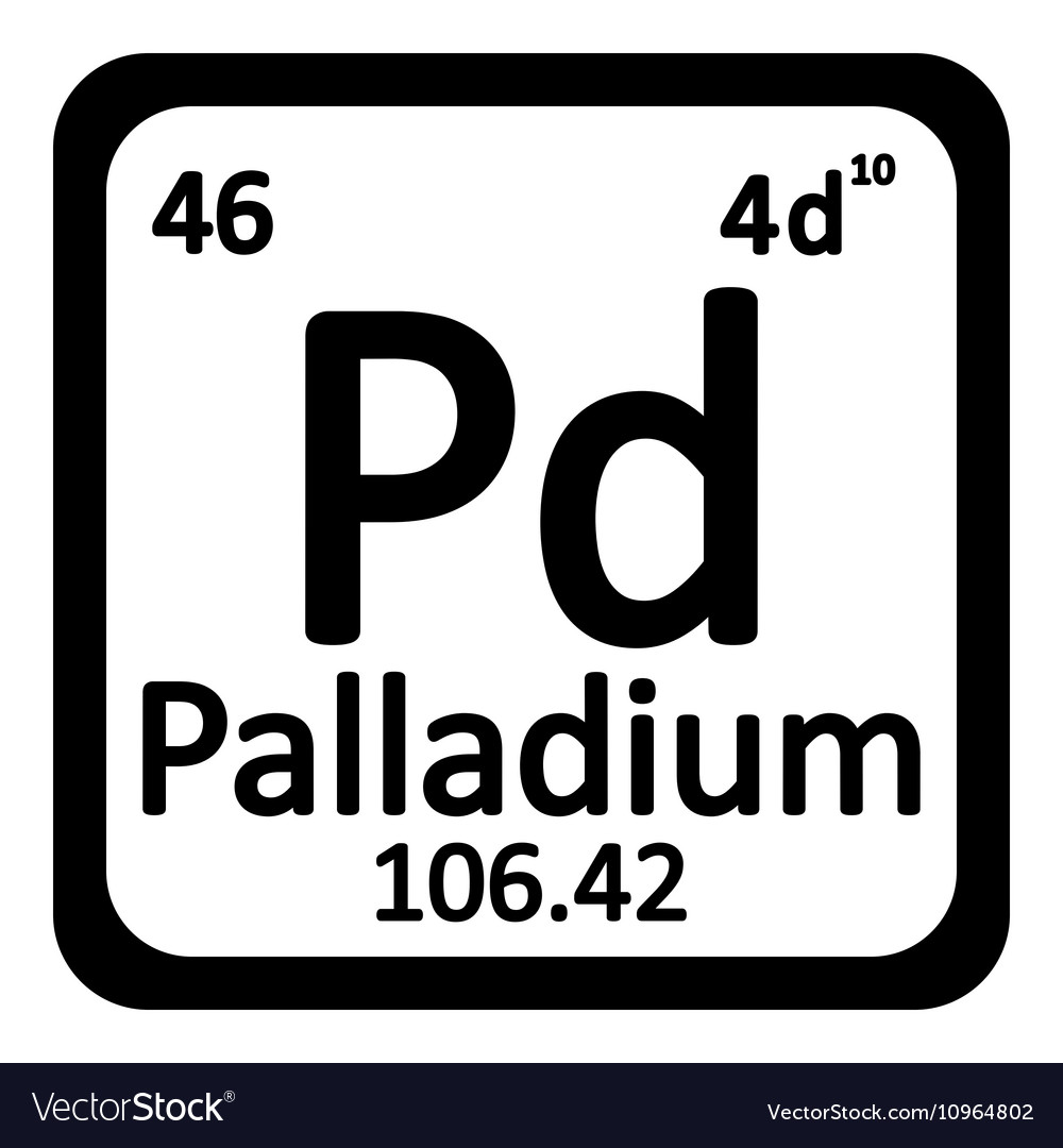 Periodic table pd choice image periodic table of elements list palladium chemical element periodic table symbol stock illustration urtaz Image collections