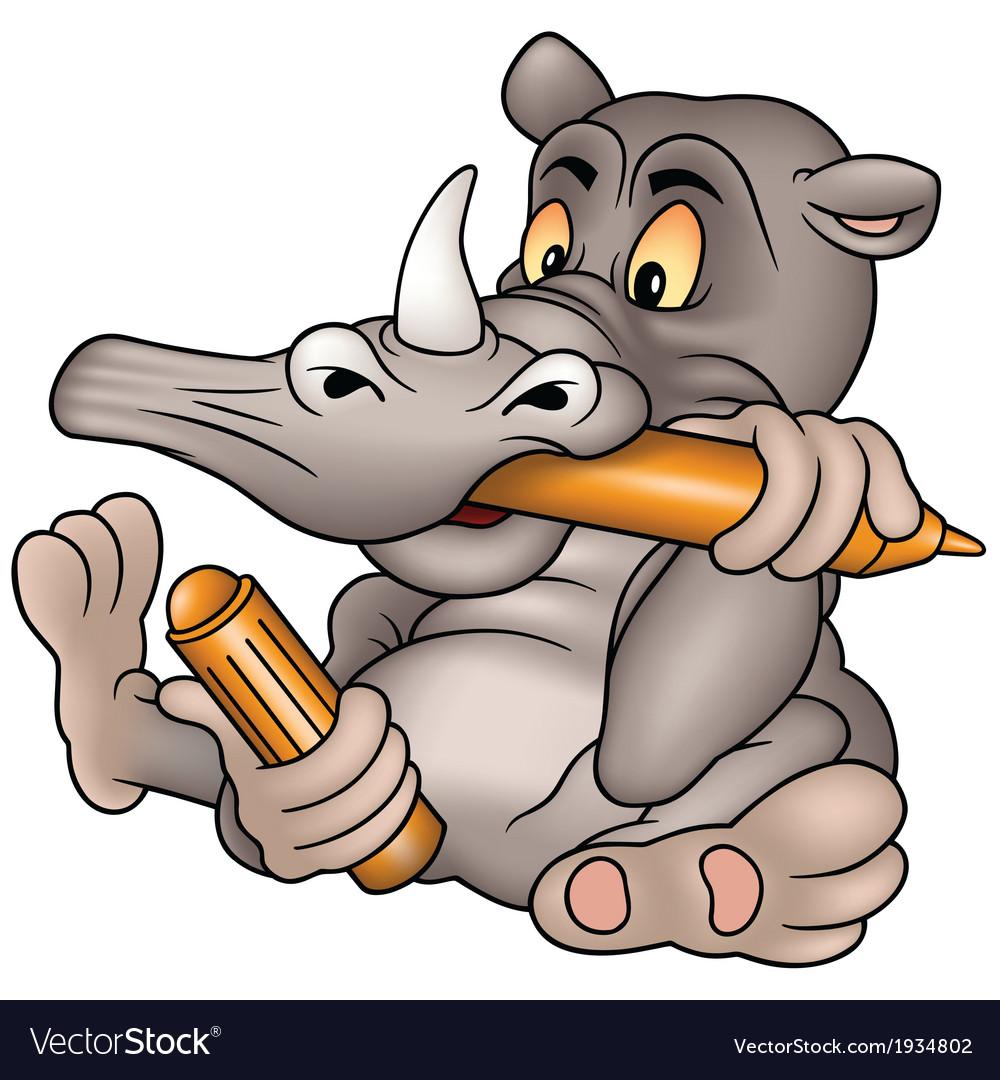 Rhino Painter vector image