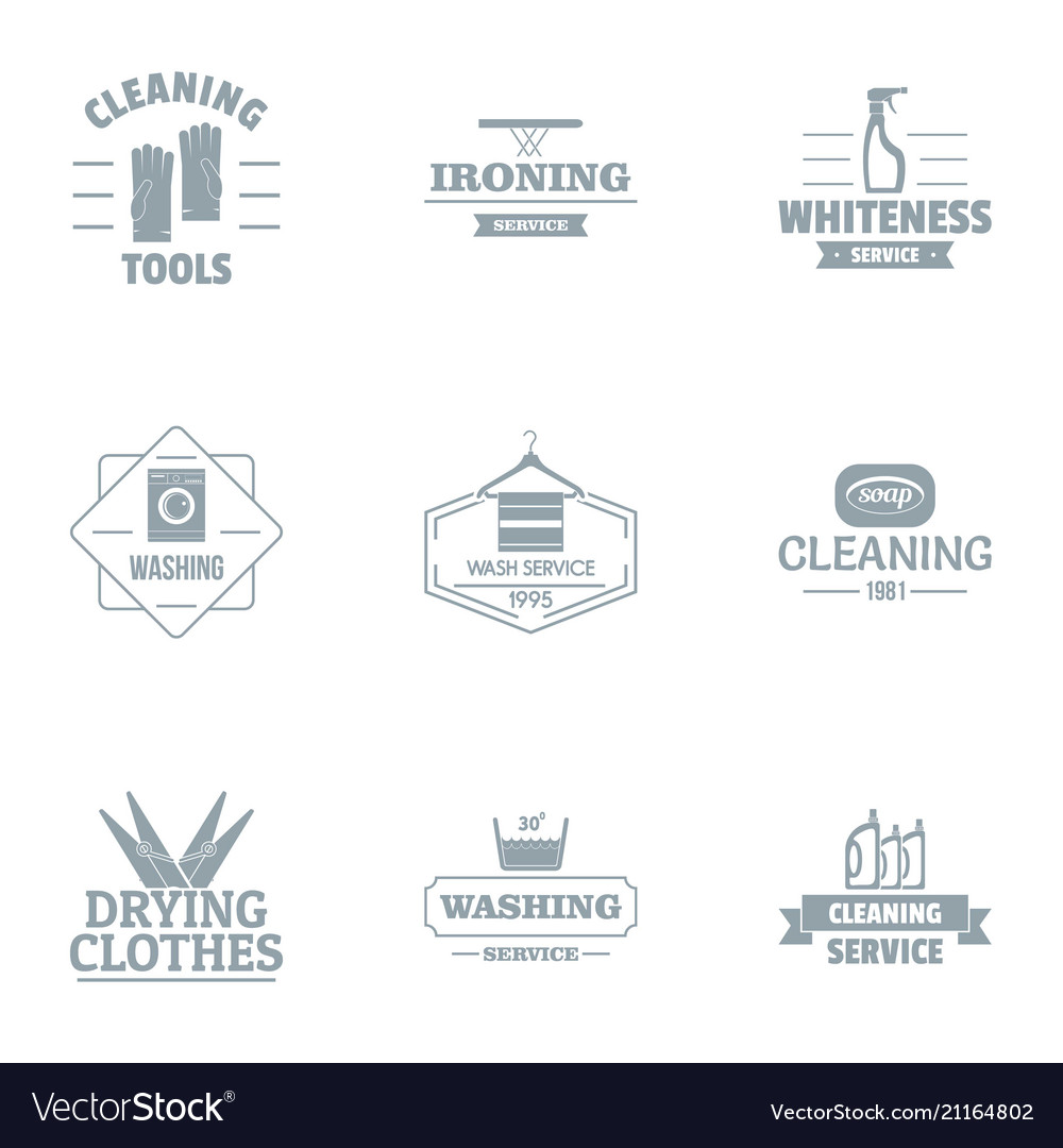 sweep logo set simple style royalty free vector image