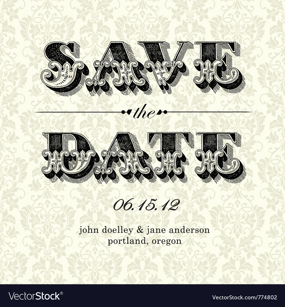 Elegant Wedding Invitations Vector