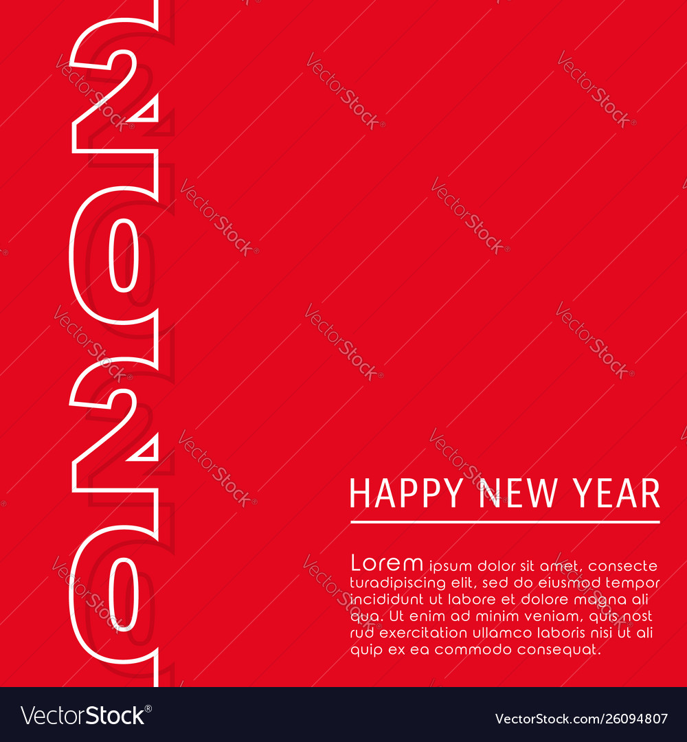2020 happy new year background design for