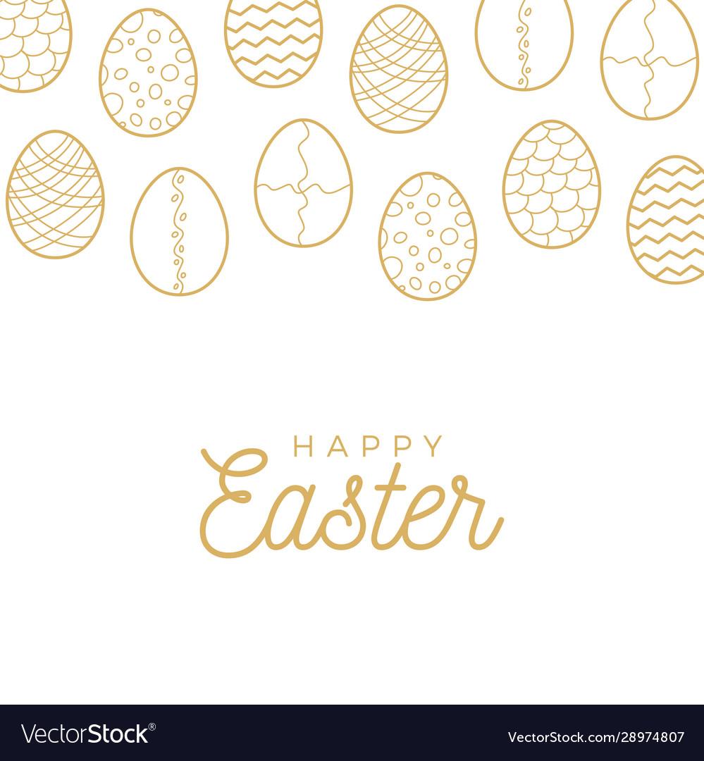 Easter egg banner golden egg icons collection in
