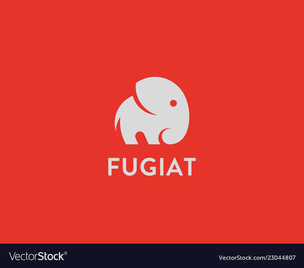Elephant logo design animal icon logotype