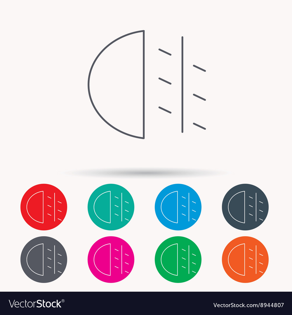 Fog Lights Icon Car Beam Sign Royalty Free Vector Image